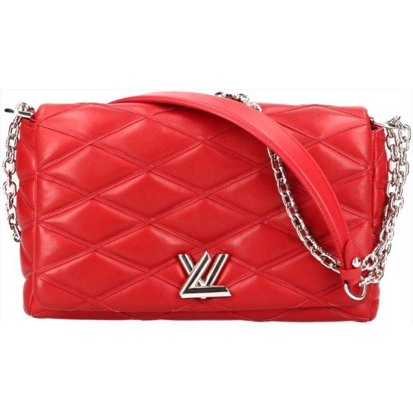 38116 Louis Vuitton Go-14 MM Mallettage Umhängetasche aus Lammleder in Rouge Rot