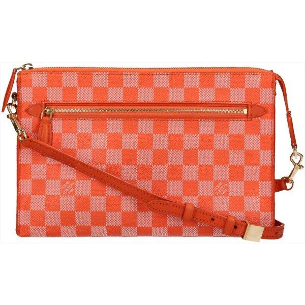 38163 Louis Vuitton Modul Damier Couleur Canvas in Piment Orange Tasche, Handtasche, Umhängetasche