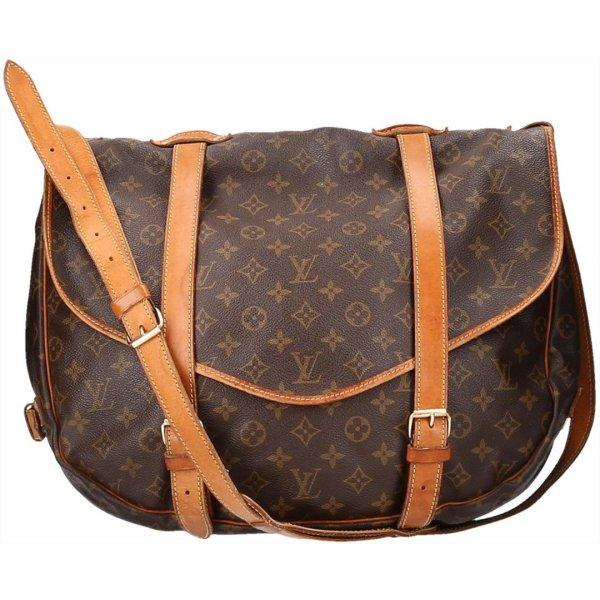 38243 Louis Vuitton Saumur 40 Monogram Canvas Tasche, Handtasche, Umhängetasche