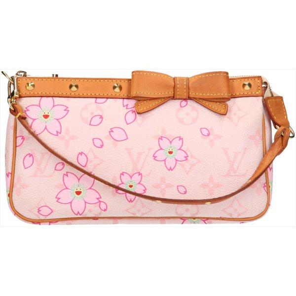 39584 Louis Vuitton Pochette Accessoires Clutch, Handtasche aus Monogram Cherry Blossom Canvas