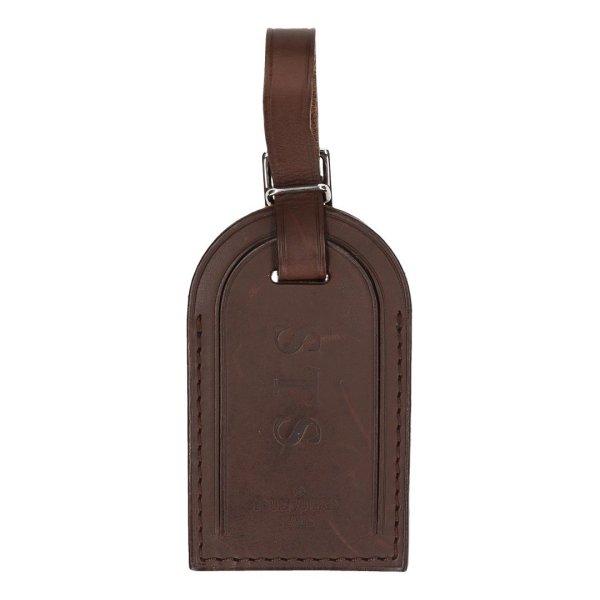 39623 Louis Vuitton Adressanhänger mit eingeprägten Initialen in dunkelbraun