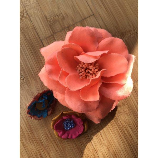 3er Set Blumen Broschen