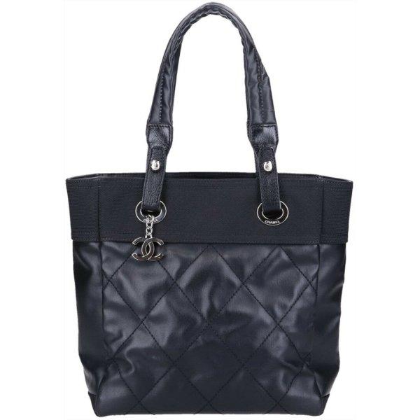 42161 Chanel CC Paris Biarritz PM Tasche Handtasche Shopper in schwarz