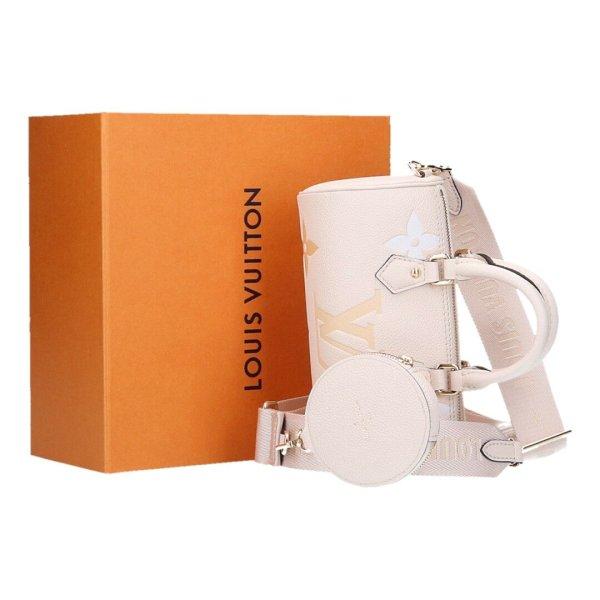 43624 Louis Vuitton Papillon BB Tasche Handtasche Monogram Empreinte Leder in Creme/Safran