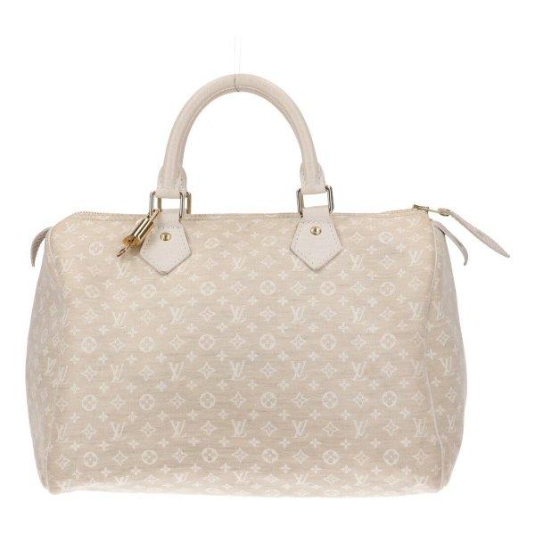 43847 Louis Vuitton Speedy 30 Monogram Mini Lin Canvas in Dune Tasche Handtasche