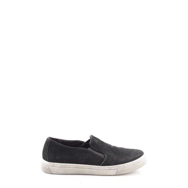 5th Avenue Schlüpfsneaker schwarz-weiß Casual-Look