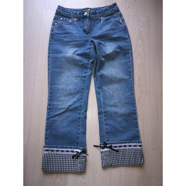 Melrose Jeans a 7/8 blu acciaio Cotone