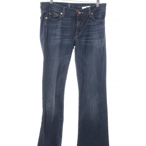 7 For All Mankind Vaquero de corte bota azul oscuro look casual