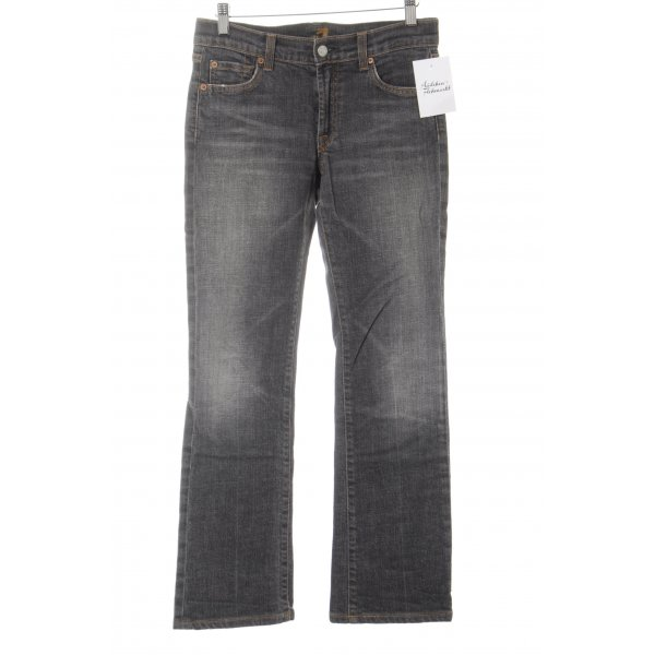 7 For All Mankind Vaquero de corte bota gris-naranja claro look casual