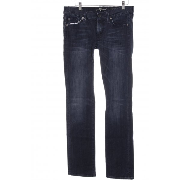 7 For All Mankind Vaquero hipster azul oscuro look Street-Style