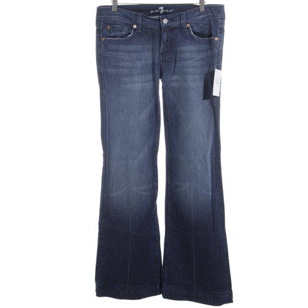 7 For All Mankind Jeansschlaghose blau Jeans-Optik