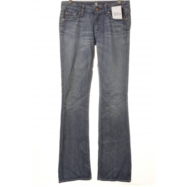 7 For All Mankind Jeansschlaghose blau sportlicher Stil