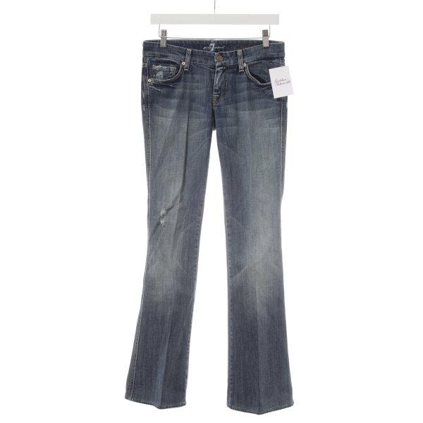 7 For All Mankind Jeansschlaghose kornblumenblau Hippie-Look