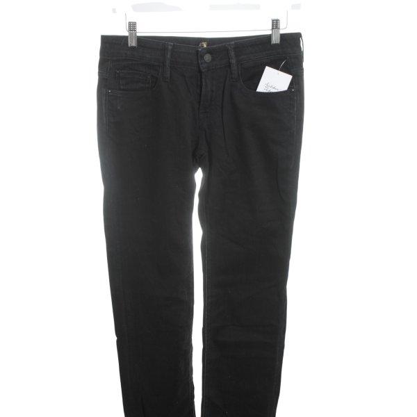 7 For All Mankind Straight-Leg Jeans schwarz Street-Fashion-Look
