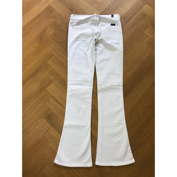7 For All Mankind Jeans bootcut blanc coton