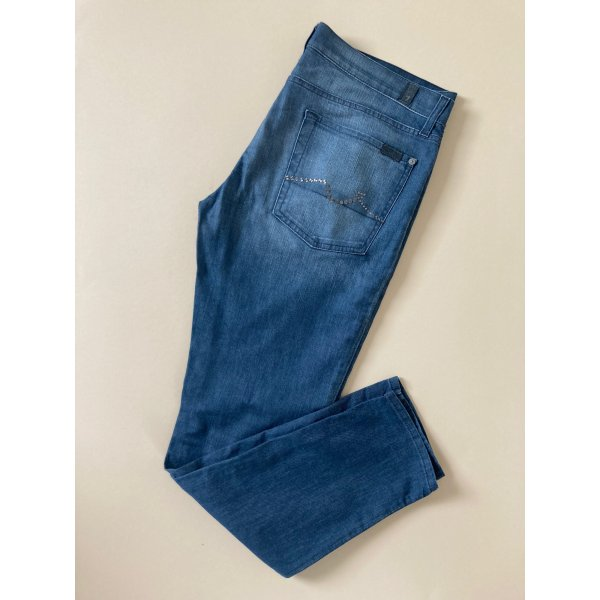 7 for all mankind woman Jeans gwenevere 32 Blau Hellblau Slim Fit Denim 42 44 Jeans Hose wie NEU