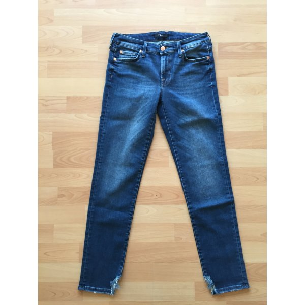 7 For All Mankind Jeans a 7/8 blu Cotone