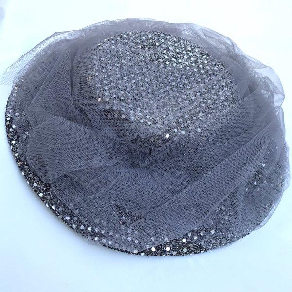 Vintage Chapeau de soleil argenté
