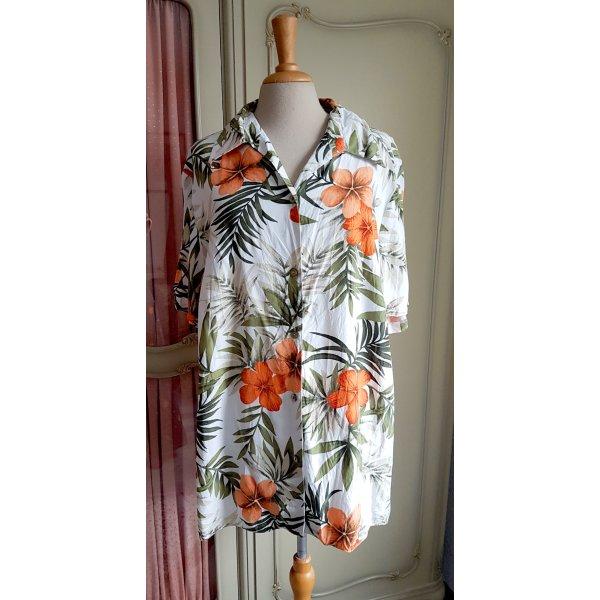 80er-/90er-Shirt mit tropischem Print