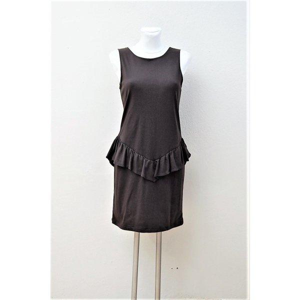 80er Vintage Sweat-Kleid mit Schößchen