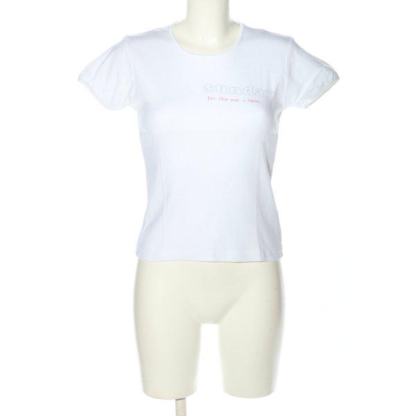 81hours T-Shirt weiß Motivdruck Casual-Look