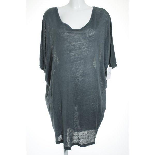 81hours Shirtkleid graublau schlichter Stil