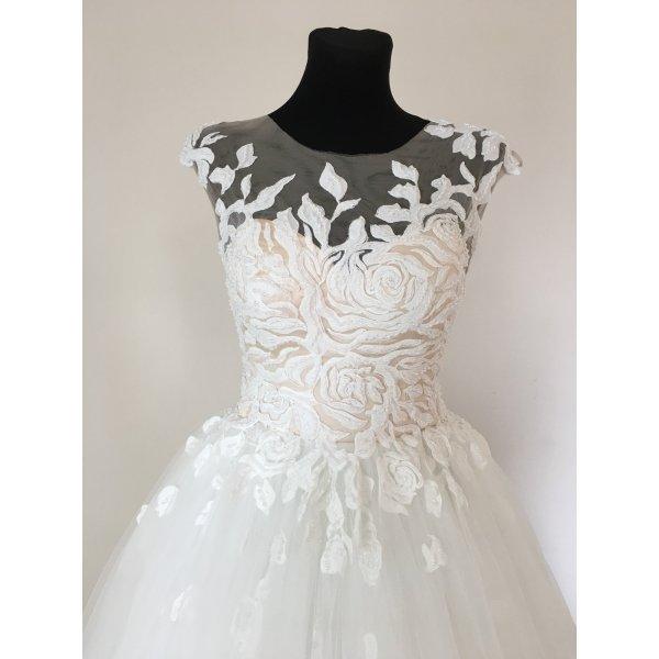 A-Linie Princess Brautkleid Hochzeitskleid Standesamtkleid Gr. 38