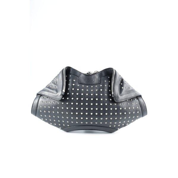 Alexander McQueen Clutch schwarz Elegant