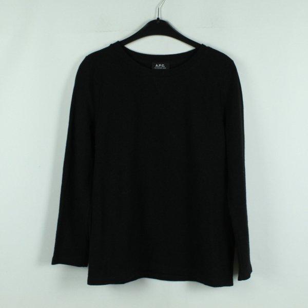 A.P.C. Paris Sweatshirt Gr. L schwarz Lochmuster (20/09/028*)