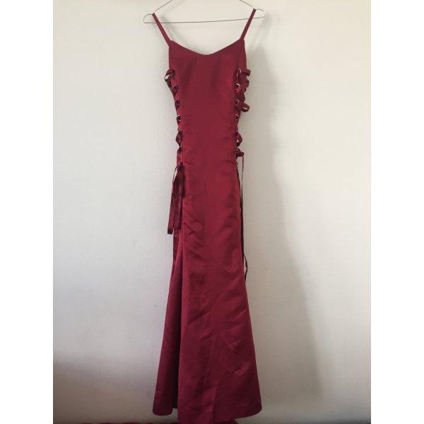 Abendkleid Ballkleid dunkelrot Gr.32 maßgeschneidert