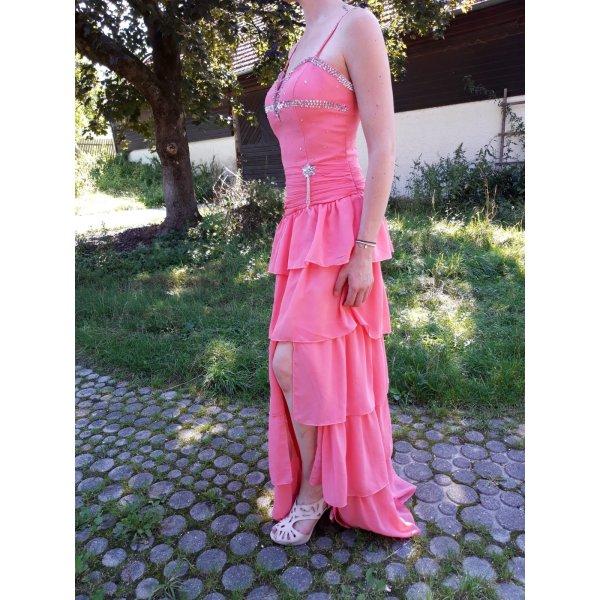 Abendkleid, lachsfarben, Gr. 36