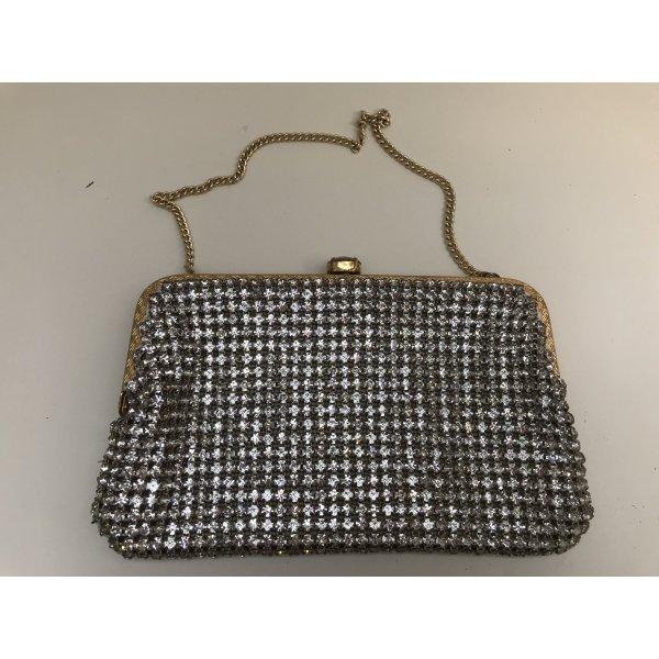 Mini Bag silver-colored glas