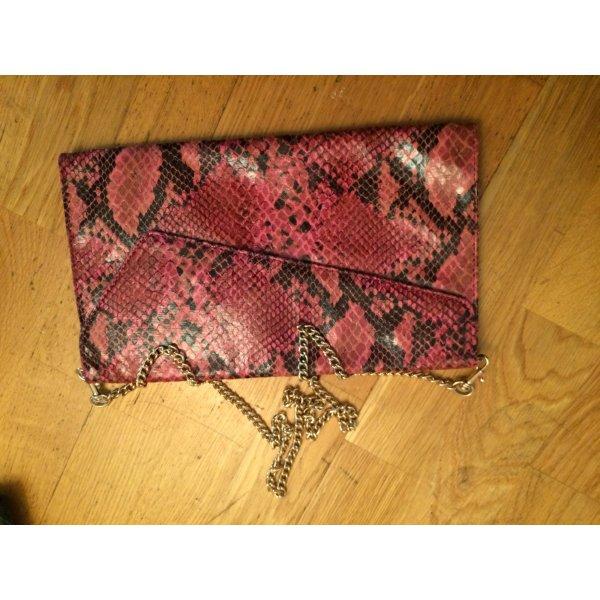 Abendtasche mit Schlangenleder-Muster