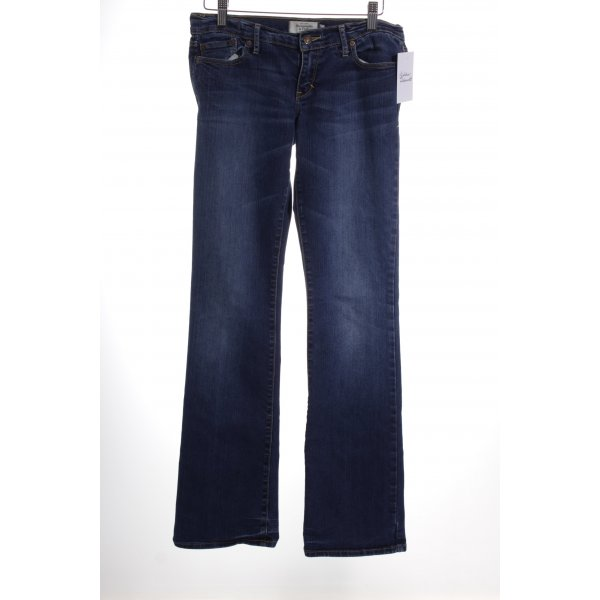 Abercrombie & Fitch Boot Cut Jeans blau College-Look