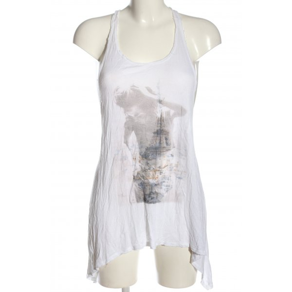 Abercrombie & Fitch Camisole weiß Motivdruck Casual-Look