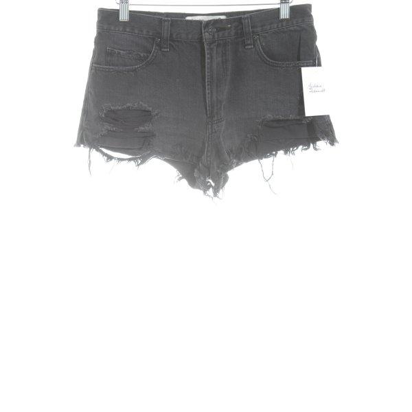 Abercrombie & Fitch Jeansshorts schwarz Beach-Look
