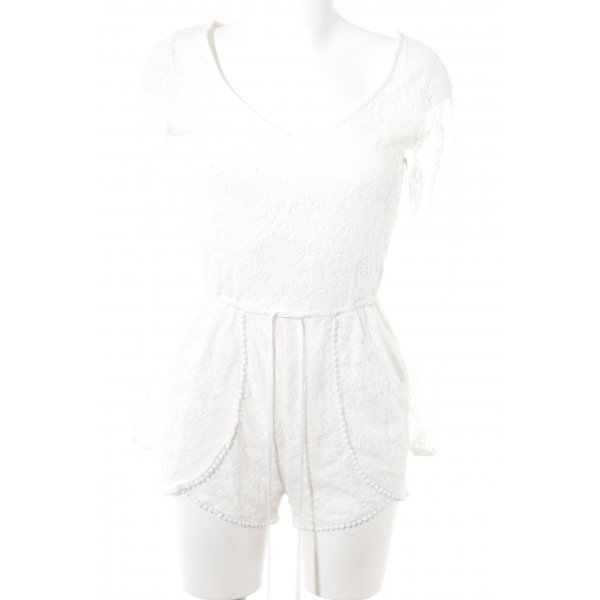 Abercrombie & Fitch Jumpsuit weiß Romantik-Look