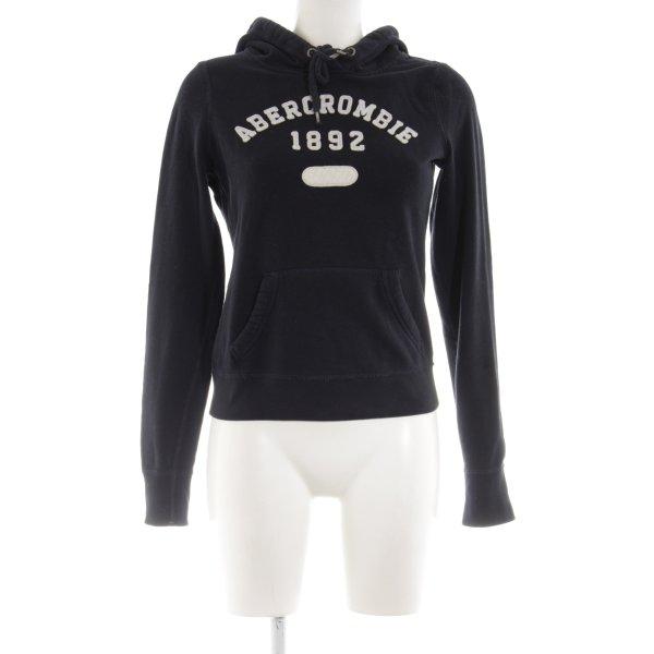 Abercrombie & Fitch Felpa con cappuccio nero stile casual