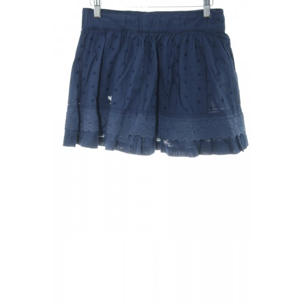 Abercrombie & Fitch Minirock blau Punktemuster Casual-Look