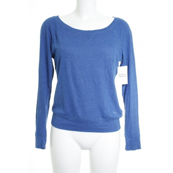 Abercrombie & Fitch Kraagloze sweater blauw casual uitstraling