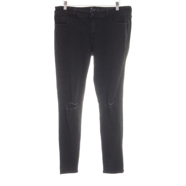 Abercrombie & Fitch Jeans skinny noir style décontracté