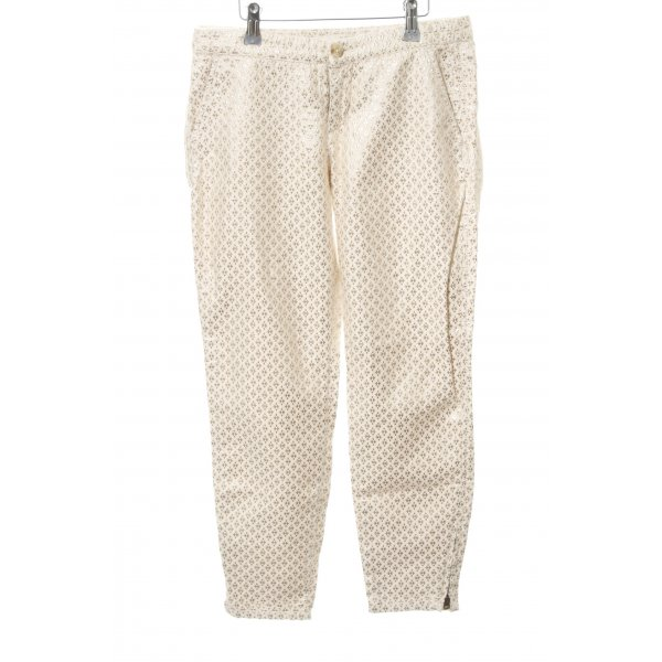 Abercrombie & Fitch Stoffhose wollweiß-goldfarben Allover-Druck