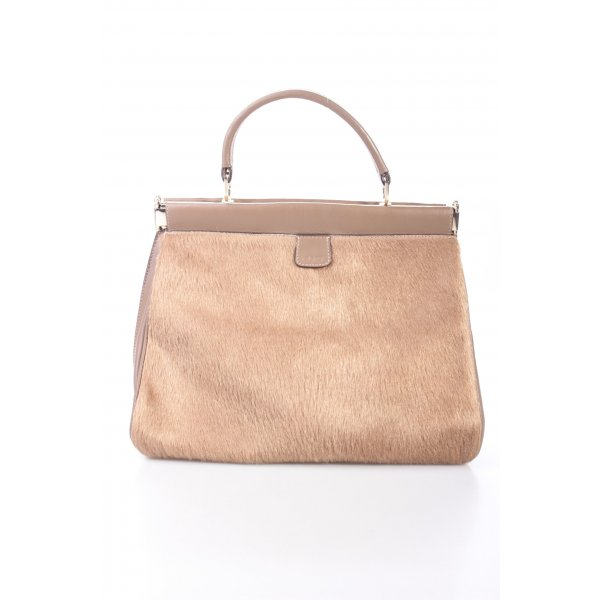 Abro Handbag Leather Cavallino Unicolor Cameo Henkeltasche braun