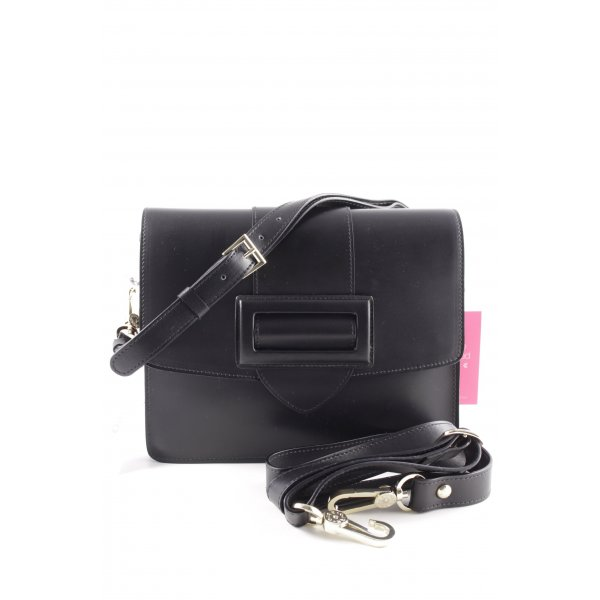 "abro Handtasche ""Calf Carmen Shoulder Bag Black/Red"" schwarz"