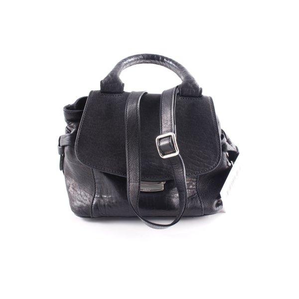 """abro Henkeltasche """"Adria Leather Handle Bag XS Black/Nickel"""" schwarz"""