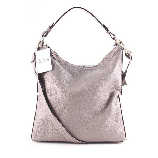 """abro Hobotas """"Newton Hobo Bag Leather Zinc"""" grijs"""