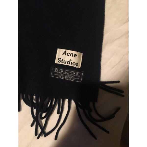 Acne Sciarpa di lana blu scuro