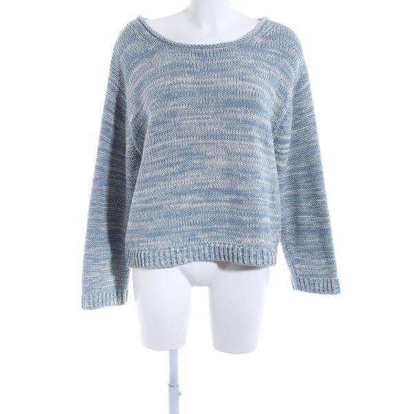 Acne Pullover a maglia grossa azzurro-bianco sporco puntinato stile casual