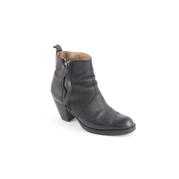 Acne Reißverschluss-Stiefeletten schwarz Street-Fashion-Look