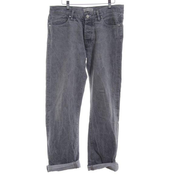 Acne Jeans a gamba dritta grigio chiaro stile casual
